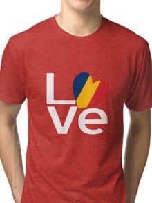 White Red Chad LOVE Tri-blend T-Shirt