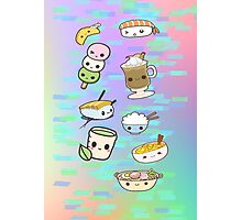 Kawaii Chibi Food Design Photographic Print