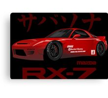 mazda RX-7 performance Canvas Print
