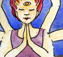 Goddess Meditation Sticker