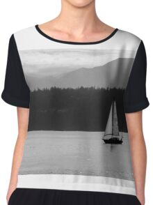 Alone Upon the Water Chiffon Top