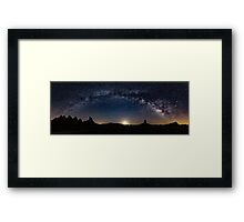 Moon Rise over Trona. Framed Print