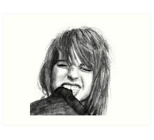 Hayley Williams Drawing Art Print