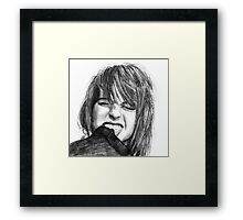 Hayley Williams Drawing Framed Print