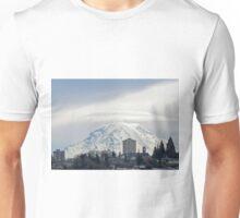 Mt. Rainier over Tacoma Unisex T-Shirt
