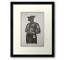 Corporate Cow Framed Print
