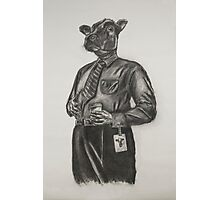 Corporate Cow Photographic Print