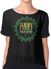 Jimmy Byron: Transition Logo Chiffon Top