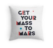 Get Your Mass to Mars (Modern/Dark) – Pillows & Totes Throw Pillow