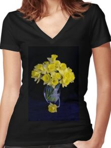 Spring Has Sprung...So I Brought It Indoors! Women's Fitted V-Neck T-Shirt