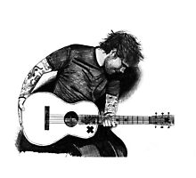 Ed Sheeran Drawing Photographic Print