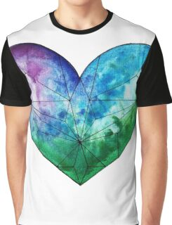 Cool Heart Abstract Fractal  Graphic T-Shirt