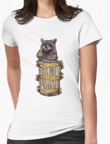 Never doubt a raccoon (blue) Womens Fitted T-Shirt
