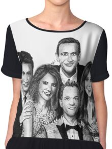 How I Met Your Mother Drawing Chiffon Top