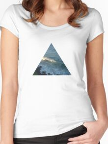 Wave triangle Women's Fitted Scoop T-Shirt