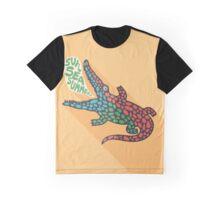 Crocodile and Sun Sea Summer Graphic T-Shirt