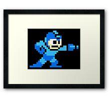 Mega Man Game 8-Bits Framed Print