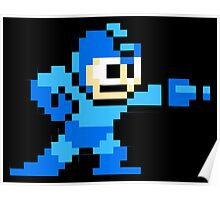 Mega Man Game 8-Bits Poster