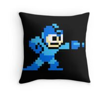 Mega Man Game 8-Bits Throw Pillow