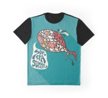 Fish and Sun Sea Summer Graphic T-Shirt