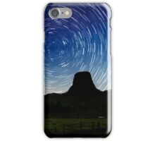 Star trails over Devils Tower iPhone Case/Skin