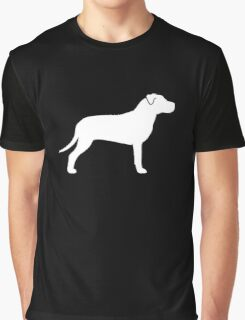 American Pit Bull Terrier Silhouette(s) Graphic T-Shirt