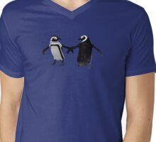 Penguin Dance Mens V-Neck T-Shirt