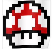 Mario Bros Game Hongo Champiñon 8-Bits Poster