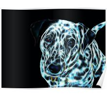 Kirra the Fractalius Dalmatian Dog Poster
