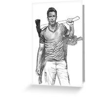 Chris Pratt Drawing Greeting Card