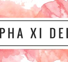 Alpha Xi Delta Watercolor Sticker
