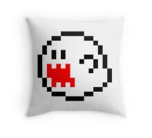 Mario Bros Game Ghost Fantasma 8-Bits Throw Pillow