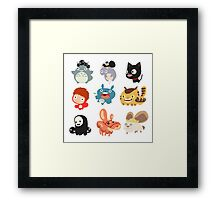 all caracter studio gibli Framed Print