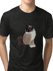 SnowShoes Cat Tri-blend T-Shirt
