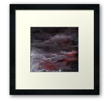 Sea of Blood, Leaden Sky Framed Print