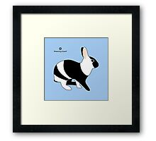 magpie harlequin rabbit Framed Print