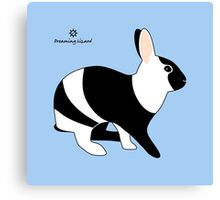 magpie harlequin rabbit Canvas Print