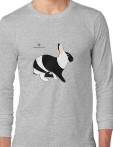 magpie harlequin rabbit Long Sleeve T-Shirt