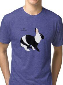 magpie harlequin rabbit Tri-blend T-Shirt