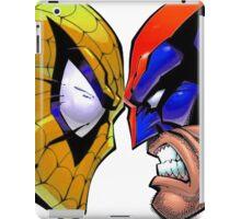 Revers Spider-man V.S. Wolverine iPad Case/Skin