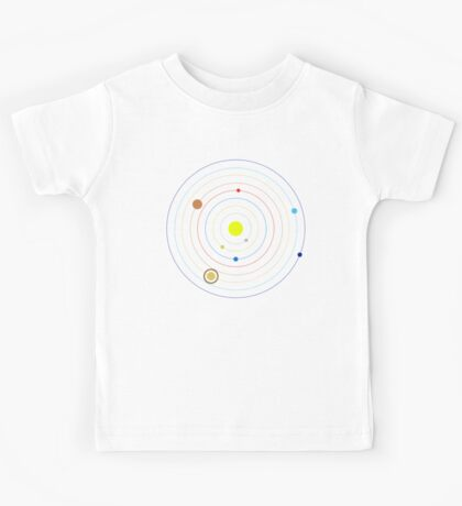 Planets in Our Solar System Kids Tee