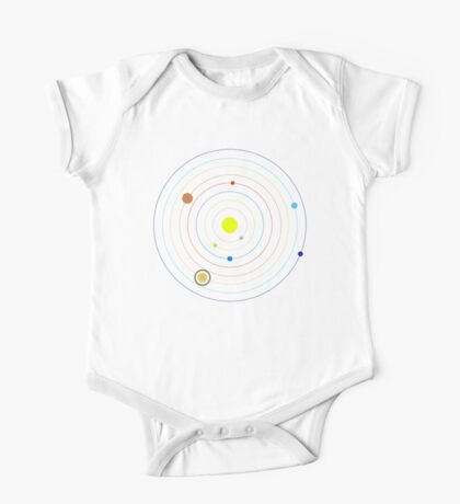 Planets in Our Solar System One Piece - Short Sleeve