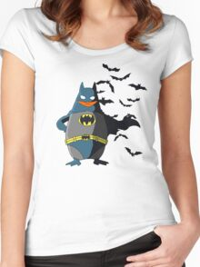 The  Dark Penguin Rises Women's Fitted Scoop T-Shirt