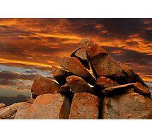 Sunset on Granite Photographic Print