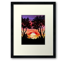 Pink Sunset Painting Framed Print