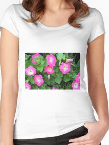 Purple flowers, natural background. Women's Fitted Scoop T-Shirt