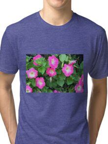 Purple flowers, natural background. Tri-blend T-Shirt