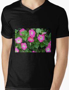 Purple flowers, natural background. Mens V-Neck T-Shirt