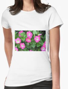 Purple flowers, natural background. Womens Fitted T-Shirt