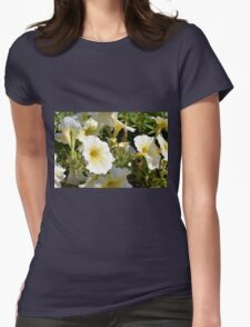 Beautiful pattern with white flowers in the garden. Womens T-Shirt